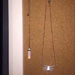 TWO crystal necklaces from tillys